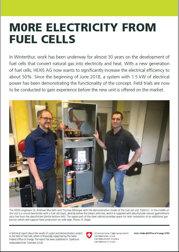 More electricity from fuel cells (SFOE) 1